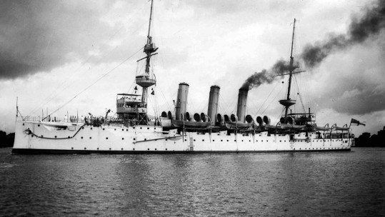 HMS Hermes (1898) sunk in Dover (PUBLIC DOMAIN, source Wikipedia)