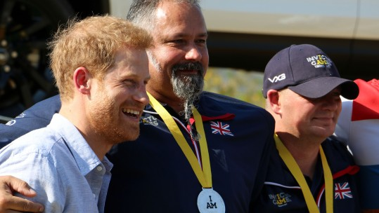 Prince Harry with Invictus Games medalists
