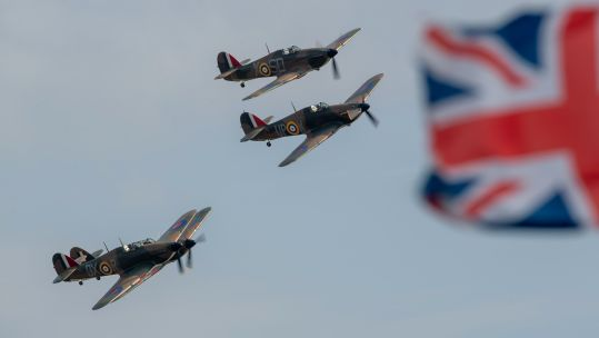 Cover image: Hurricanes fly during last year's Battle of Britain Air Show (Picture: PA).