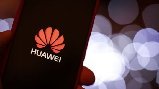 Huawei mobile device screen (Picture: PA).