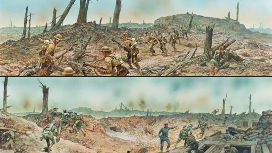 Illustration of British and German views of the Battle of the Somme - Osprey Publishing