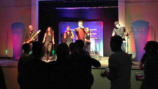CSE band Brainscape play to a rocking Falklands crowd