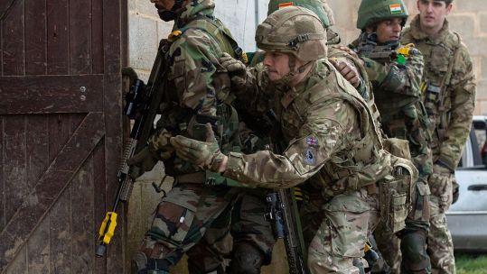Cover Image: British and Indian troops take part in the exercise on Salisbury Plain (Picture: British Army).