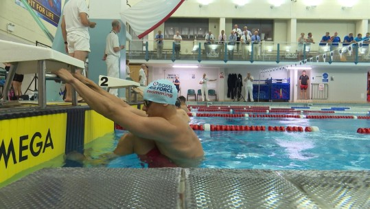British military Inter-Services Swimming Championships 2018