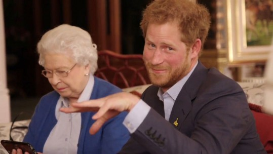 The Queen And Prince Harry Star In Hilarious Invictus Video