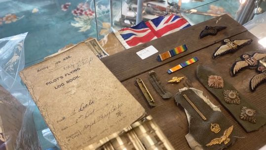 Items up for auction from WWI pilot 230320 CREDIT BFBS.jpg