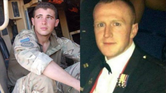 Cpl Hatfield (left) and Cpl Neilson (right)