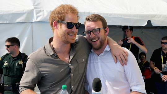 JJ Chalmers and Prince Harry in 2016