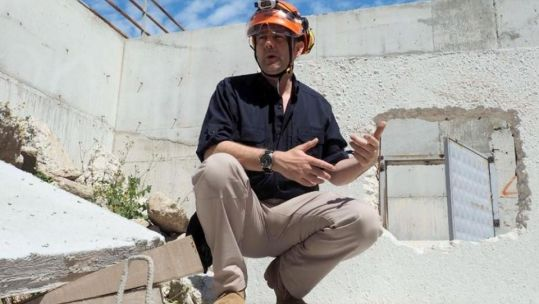 Ex-Army officer James Le Mesurier had helped to train the White Helmets' volunteers (Picture: Syria Civil Defence - The White Helmets / Facebook).