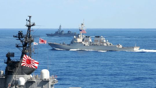 Japan will not be joining a US-led coalition in the Middle East (Picture: US Navy).