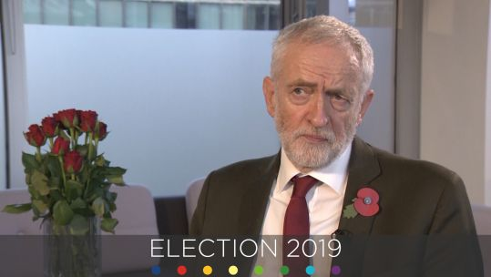 Jeremy Corbyn 2019 General Election cover pic
