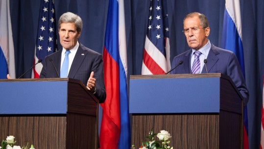 John Kerry Secretary of State US meets Sergey Lavrov Russian Foreign Minister Aleppo