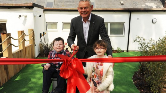 Julia's House patron Martin Clunes officially opens their new Children's Hospice in Devizes