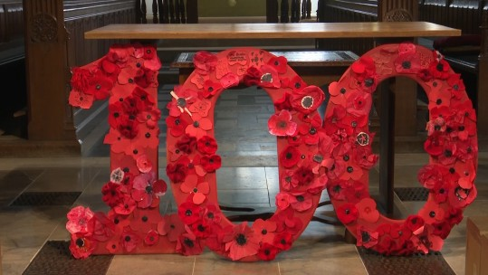 Knitted Poppies 071118 CREDIT BFBS