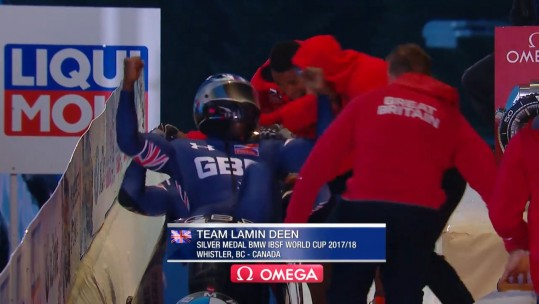 Lamin Deen Bobsleigh World Cup silver, 2017
