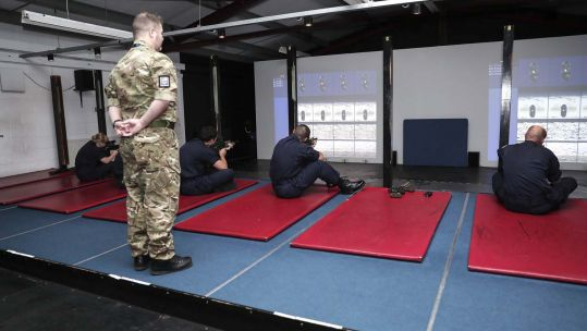 Laser and digital technology is used at the Dismounted Close Combat Trainer range at HMS Excellent 300720 CREDIT ROYAL NAVY.jpg