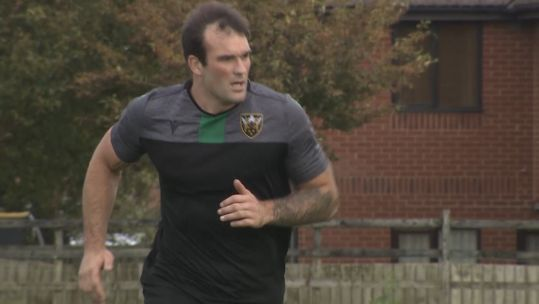 Lewis Bean training with Northampton Saints 250919 CREDIT BFBS