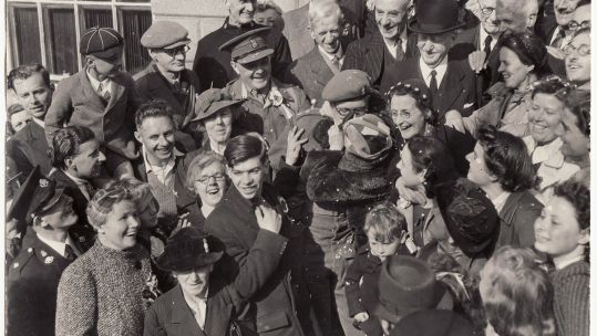 Cover image: Celebrations in Guernsey on Liberation Day (Picture: Courtesy of Guernsey Museums & Galleries/Royal Navy).