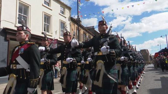 Linlithgow Freedom Parade Royal Scotland Regiment Credit BFBS 210619