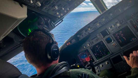 Pilot undergoes low level flying training for the P-8A Poseidon (Picture: RAF).