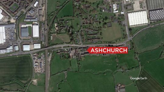 Asbestos has been found at MOD Ashchurch in Gloucestershire (Picture: Google Earth).