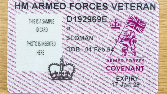 Veteran ID card