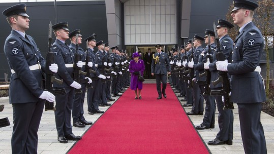 The Queen during a visit to RAF Marham