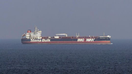 MV Stena Impero, seen here sailing from Bandar Abbas (Iran), after being released by Iranian officials 270919 CREDIT MOD