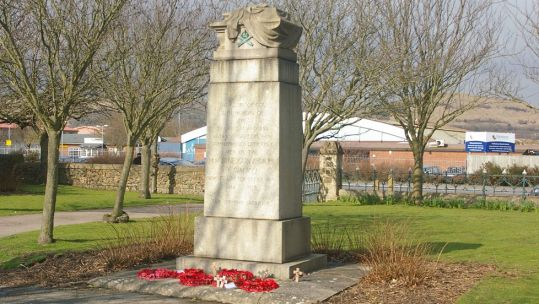 Machine Gun Corps War Memorial, Cheriton Road Cemetery, Folkestone listed Grade II in Nov 2020 DATE UNKNOWN CREDIT War Memorials Trust .jpg