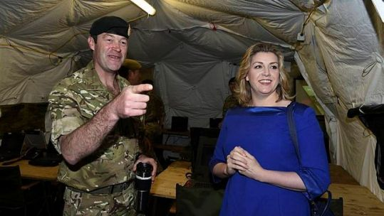 Penny Mordaunt with Major General Patrick Sanders, 2015.
