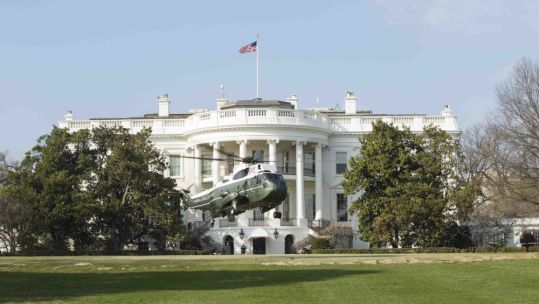 Marine helicopter lands at the White House (Picture: US Department of Defense).