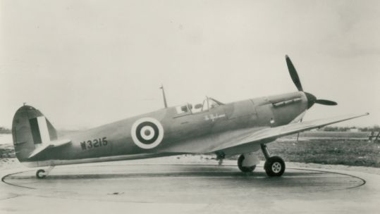 Marks & Spencer staff members raised enough money to purchase a Mk V Spitfire. It was named The Marksman. Credit: Marks & Spencer Company Archive.