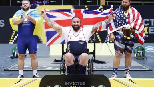 Martin Tye Gold Medal in powerlifting Invictus Games Sydney CREDIT MOD