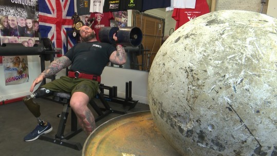 Britain's strongest disabled man British Army veteran Mark Smith