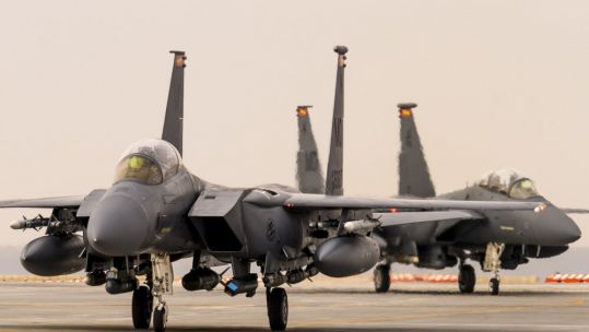 F-15E Strike Eagle are reported to have been involved in the US strikes (Picture: US Department of Defense).