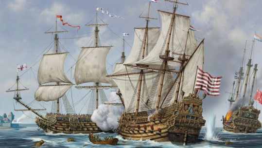 Medway Raid from Osprey Anglo Dutch Warships title