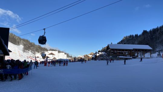 Meribel in the sunshine during Inter Services Snow Sports Championships