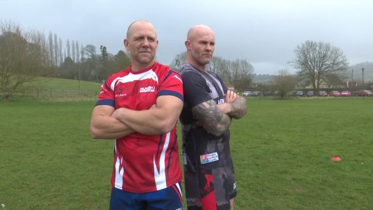Mike Tindall with Keith Senior
