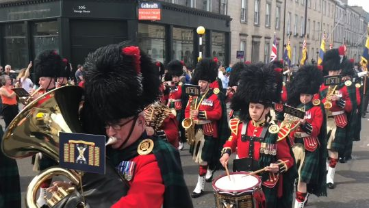 Military band performs in Edinburgh for AFD 230619 CREDIT BFBS.jpg