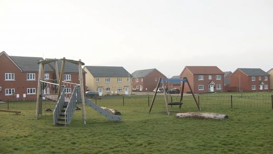 Military housing at Salisbury Plain, Wiltshire