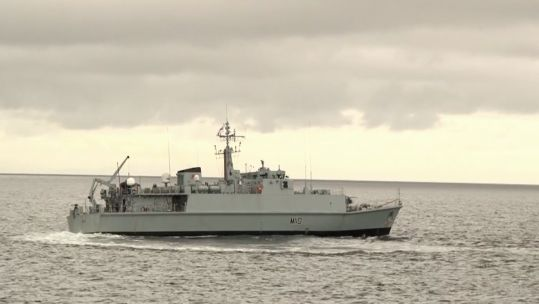 Royal Navy minehunter