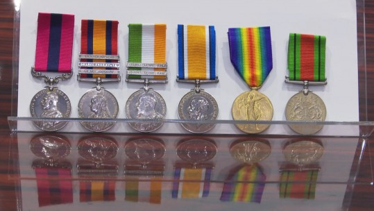 Missing medals Yorkshire Museum 051118 CREDIT BFBS.