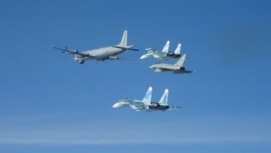 NATO aircraft shadowing Russian jets