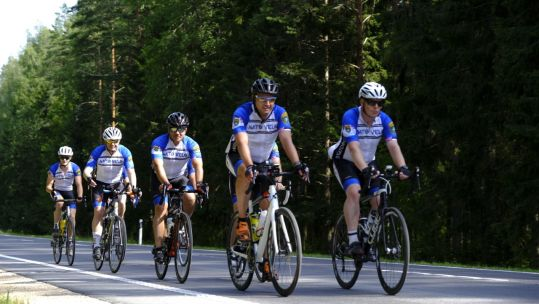 Cover image: Soldiers cycle across Estonia (Picture: NATO).