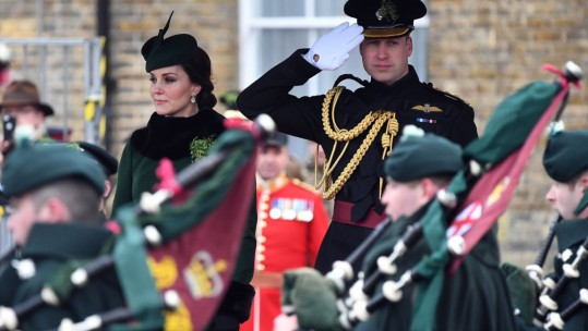 Prince William and Kate at Irish Guards  St. Patrick's Day Parade