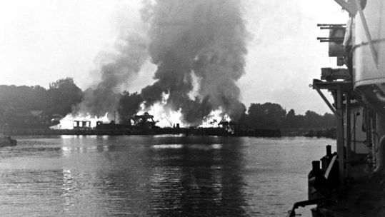 ​​​​​​​Nazi German battleships attacked a Polish military base on September 1, 1939 (Picture: PA).