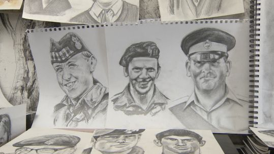 Never Gone portraits of fallen soldiers from Op Banner Credit BFBS 140819
