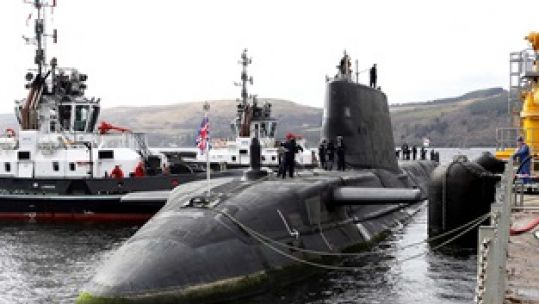 HMS Audacious Arrives In Clyde 07042020 CREDIT ROYAL NAVY