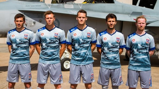 Football Team Honours Air Force With Fighter-Jet Kit