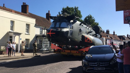 RAF moves Chinook through Odiham village